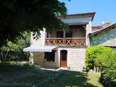Maison de village laugnac - 2 pièce (s) - 75.12 m²