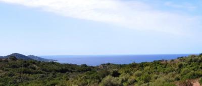 Terrain de 1 325 m² Vue mer du haut du terrain à Pietrosella