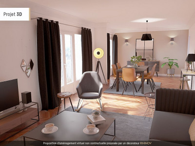 Bel appartement familial lumineux. 3 a 4 chambres
