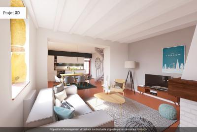 T4 en Triplex de 91 m² - 2 chambres (Posté 3) - Terrasse 25 m²