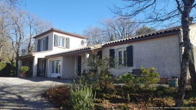 Villa récente avec terrain et vues Pyrénées