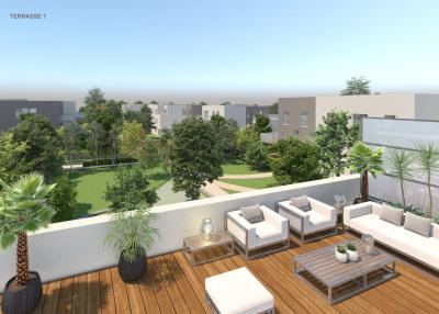 Superbe appartement T5 terrasse sans vis à vis
