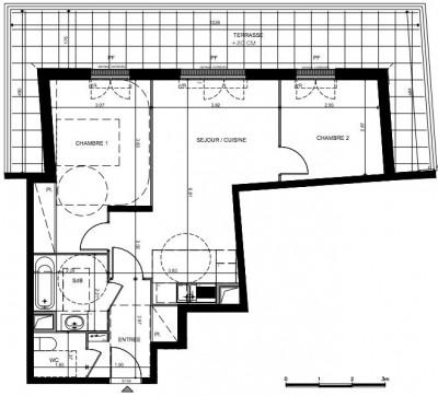 Appt de Comeilles en parisis: 3 pièces De 60 m² avec terra