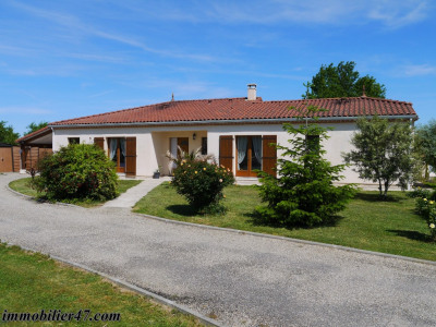 Villa de plain pied laffitte sur lot - 5 pièces - 158 m²