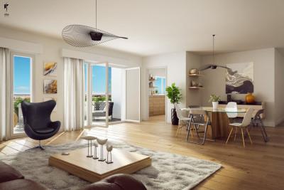 Appartement 3 pièces 70m² avec balcon