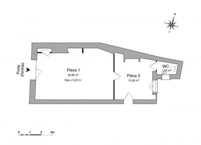 CENTRE VILLE Locaux commerciaux 2 pièces 46,06 m²