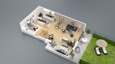 Appartement 5 pièces en duplex avec jardin de plus de 160m²