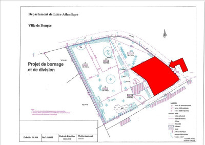 Terrain constructible donges - 1068 m²
