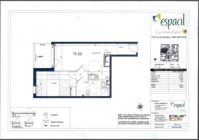 A louer T2 sautron - 44.2 m²