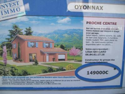 Vente terrain Oyonnax
