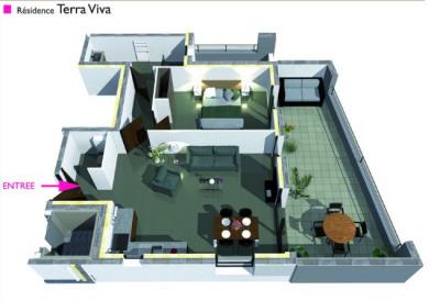 Appartement Pertuis 2 pièces 56 m²
