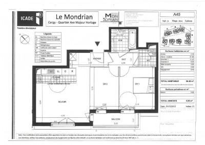 Appartement T3 avec parking et balcon