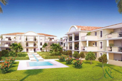 Bormes Le Pin apartments for sale off plan in a residence wi