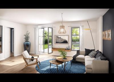 Maison sur 2 étages avec petit jardin -