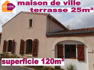 Maison de ville / Appartement 120m² avec terrasse