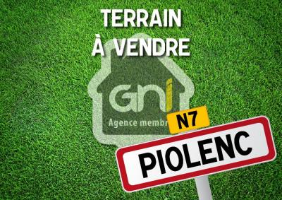 A vendre terrain viabilisé Piolenc 600 m² - lot n°1