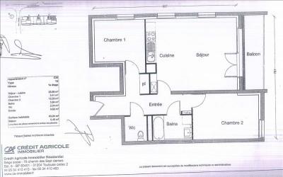 T3 nantes - 3 pièce (s) - 63.24 m²