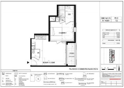 Appartement T2 NEUF - 3ème étage - 43,59 m²