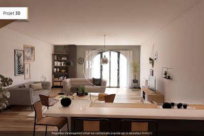 Duplex en rez-de-jardin T3 57m² + jardinet de 40m²