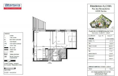 Appartement Nantes 3 pièce (s) 65 m²