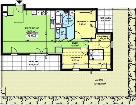 Sale apartment Saint-pierre-en-faucigny 319764€ - Picture 3