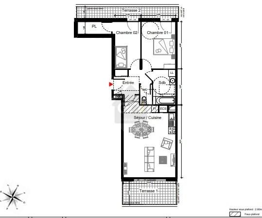 Vente appartement Marseille 8ème 414000€ - Photo 3