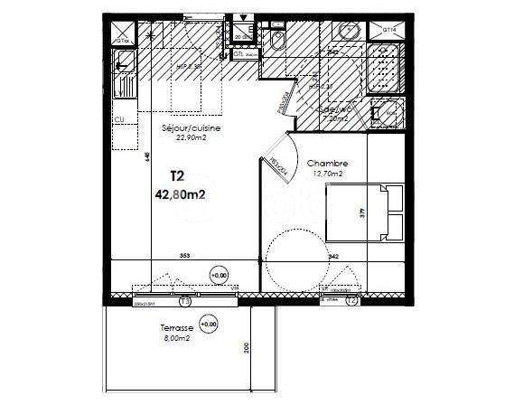 Vente appartement Perpignan 140000€ - Photo 1