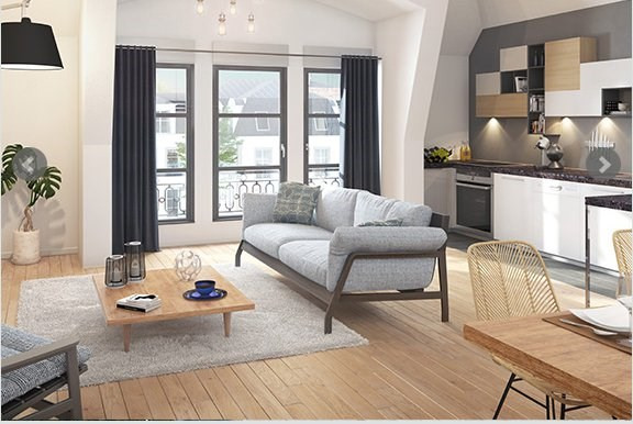 Vente appartement Versailles 374000€ - Photo 2