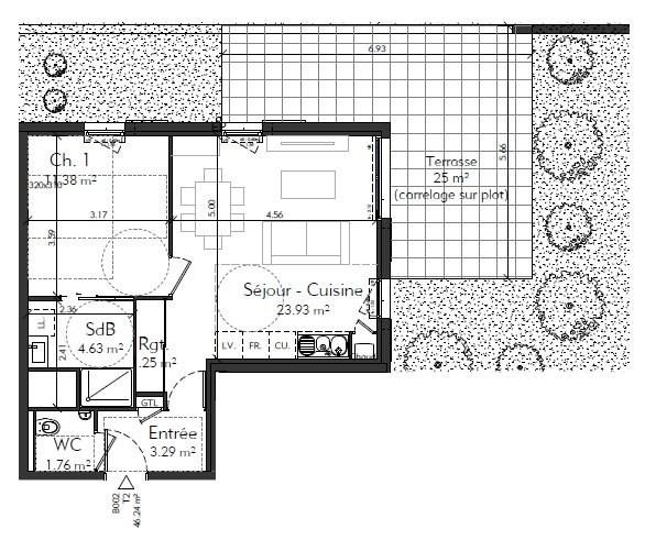 Vente appartement Genas 216927€ - Photo 4