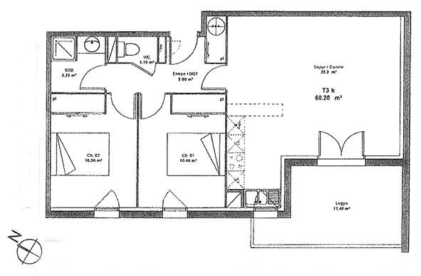 Rental apartment Aussonne 659€ CC - Picture 2