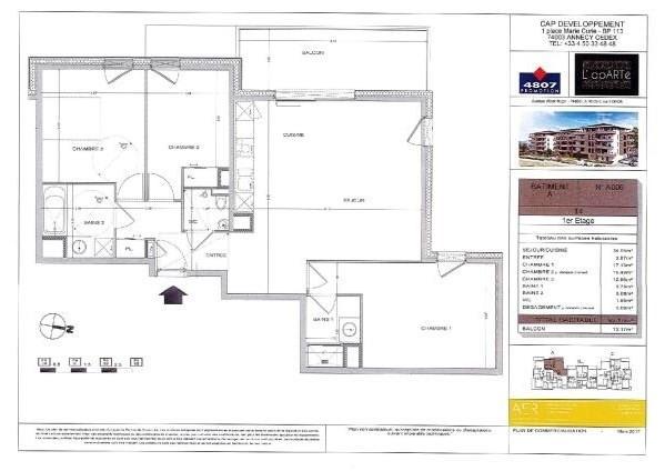 Sale apartment La roche sur foron 295000€ - Picture 2