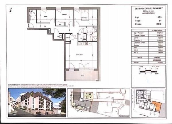 Vente appartement Poitiers 238000€ - Photo 3
