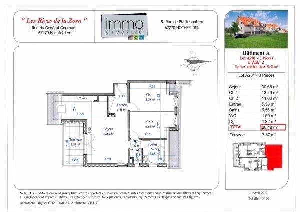 Vente appartement Hochfelden 204374€ - Photo 4