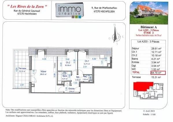 Vendita appartamento Hochfelden 190000€ - Fotografia 4
