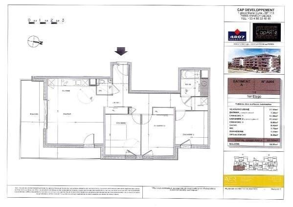 Sale apartment La roche sur foron 281000€ - Picture 2