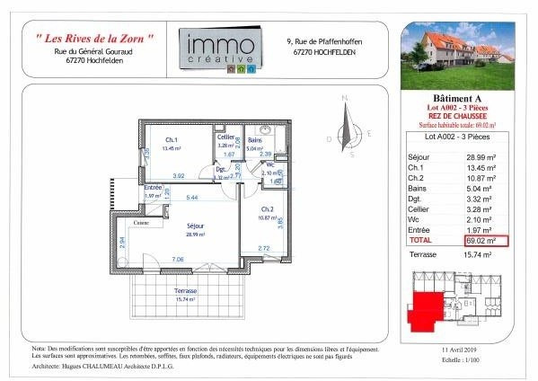 Vendita appartamento Hochfelden 203876€ - Fotografia 3