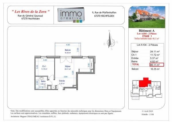 Vente appartement Hochfelden 135 000€ - Photo 2