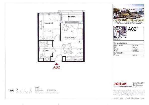Sale apartment Bonneville 148500€ - Picture 3