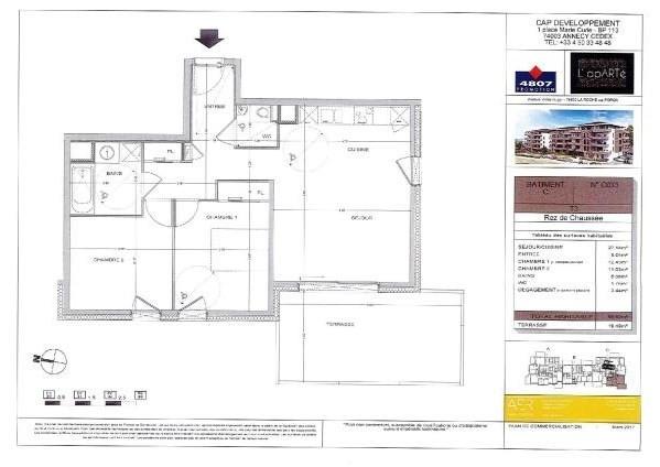 Sale apartment La roche sur foron 228000€ - Picture 3