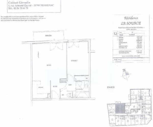 Rental apartment Merignac st augustin 640€ CC - Picture 2
