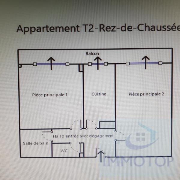 Vendita appartamento Menton 215000€ - Fotografia 13