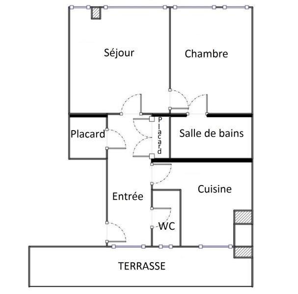 2 pièces - 40,37 m² + terrasse