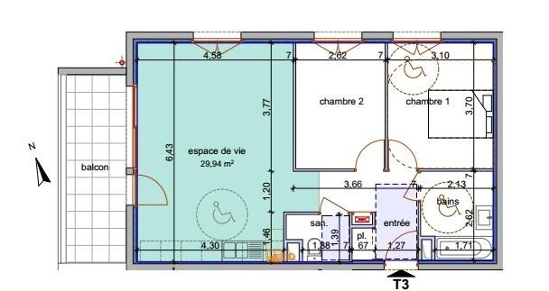 Sale apartment Annemasse 255400€ - Picture 4