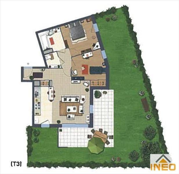 Vente appartement Noyal chatillon sur seiche 172000€ - Photo 3