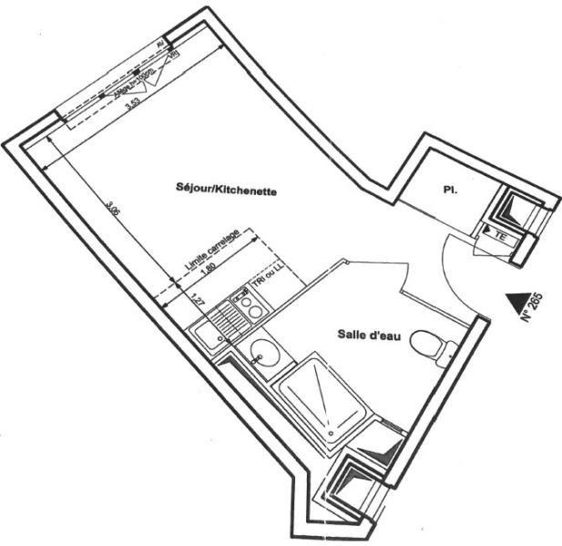 Appartement romainville - 1 pièce (s) - 24.24 m²