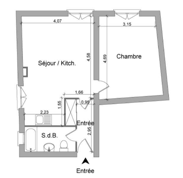Location appartement Villefranche sur saone 409€ CC - Photo 4