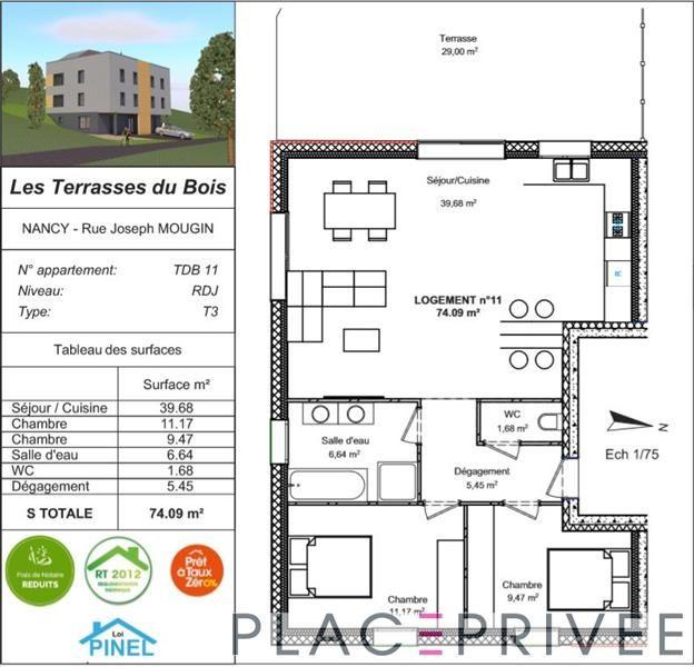 Sale apartment Nancy 226500€ - Picture 3