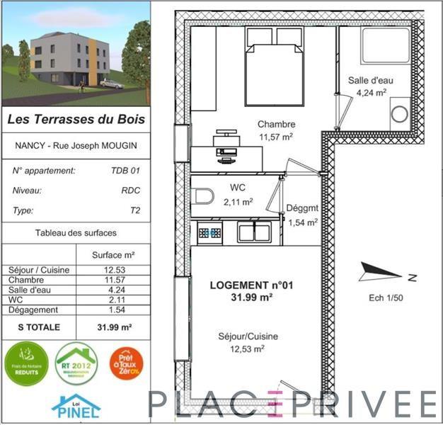 Sale apartment Nancy 61900€ - Picture 3