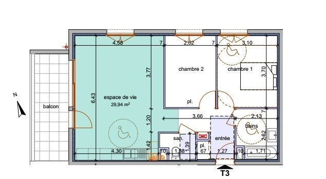 Venta  apartamento Annemasse 253400€ - Fotografía 4