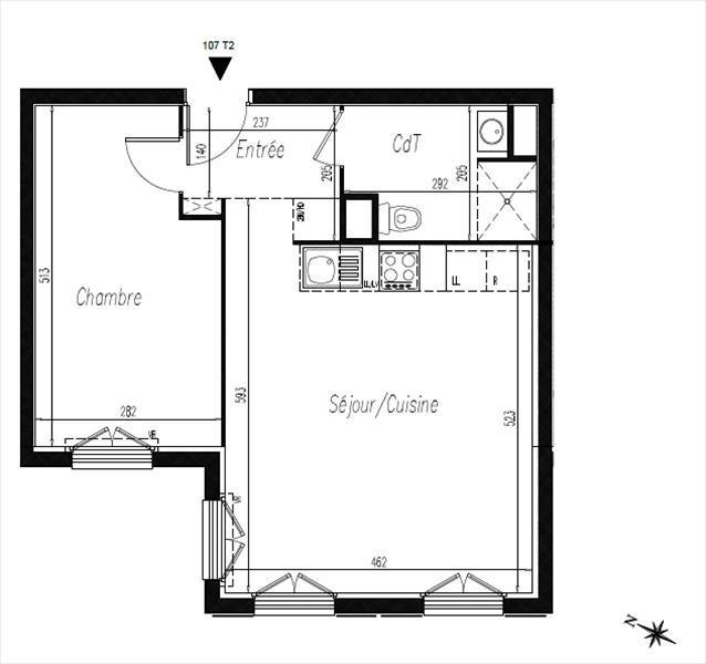 Vendita appartamento L isle adam 197600€ - Fotografia 2